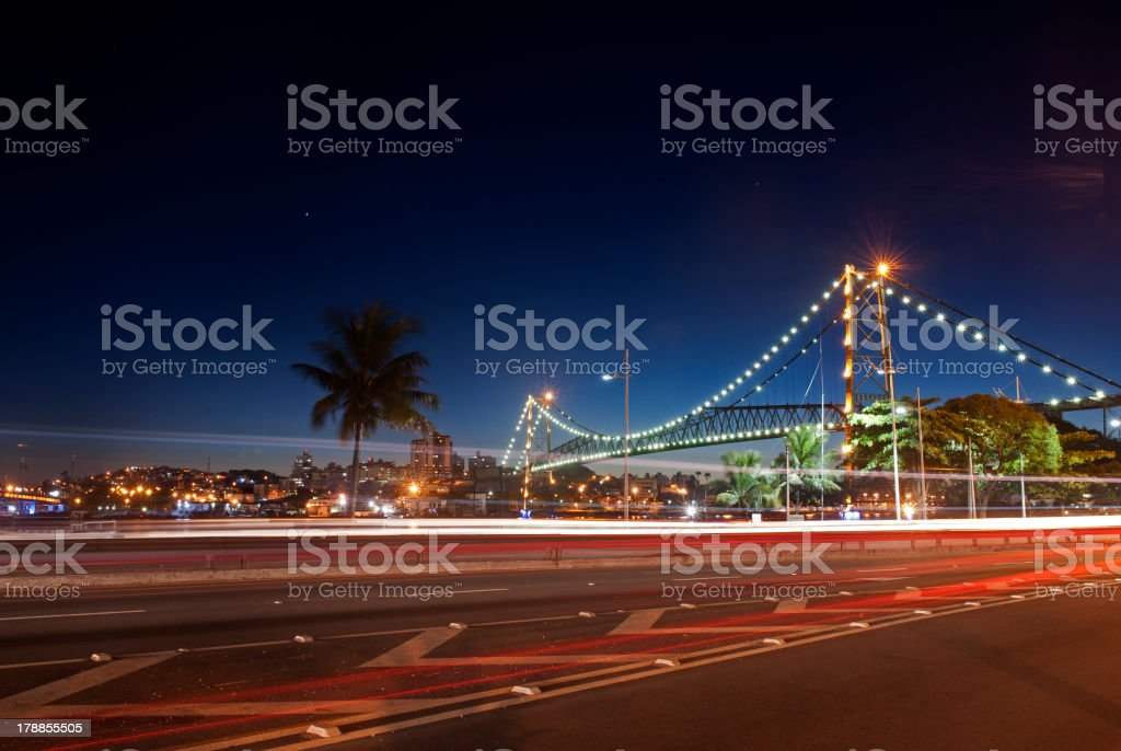 Florianopolis, Hercilio Luz Bridge stock photo