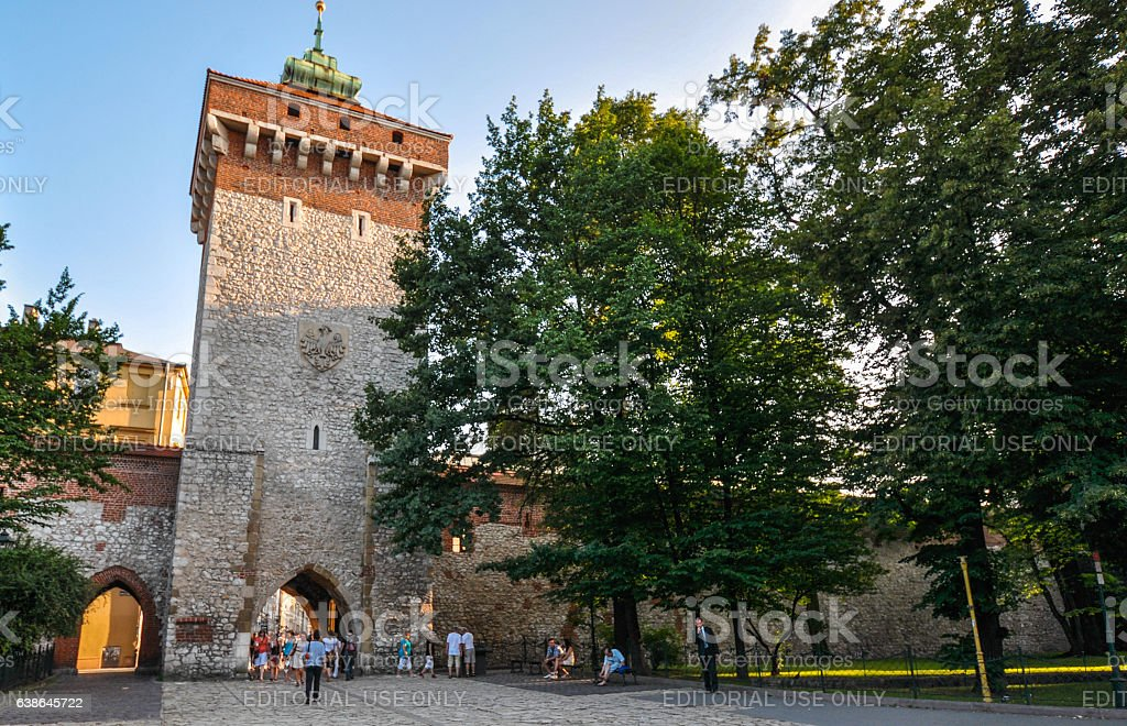 Florian's Gate in Krakow, Poland stock photo