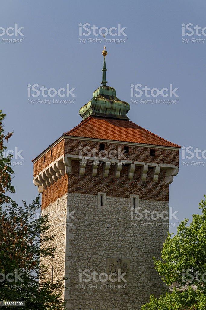 Florianska gate in Krakow stock photo