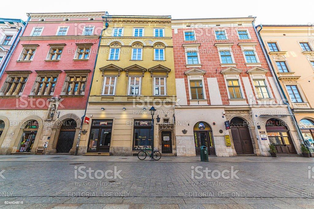 Florianska street in Krakow stock photo