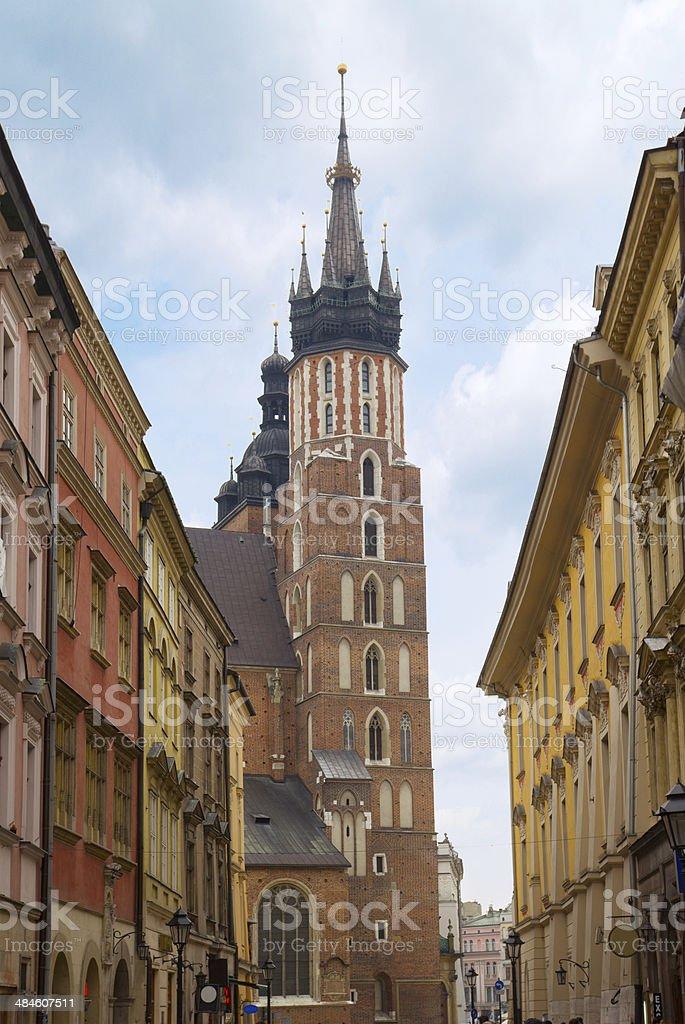 Florianska street, Kracow, Poland stock photo