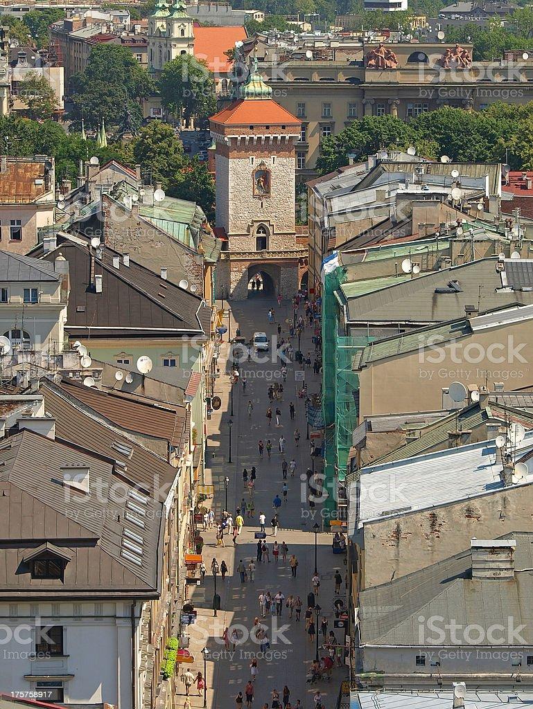 Florianska street stock photo
