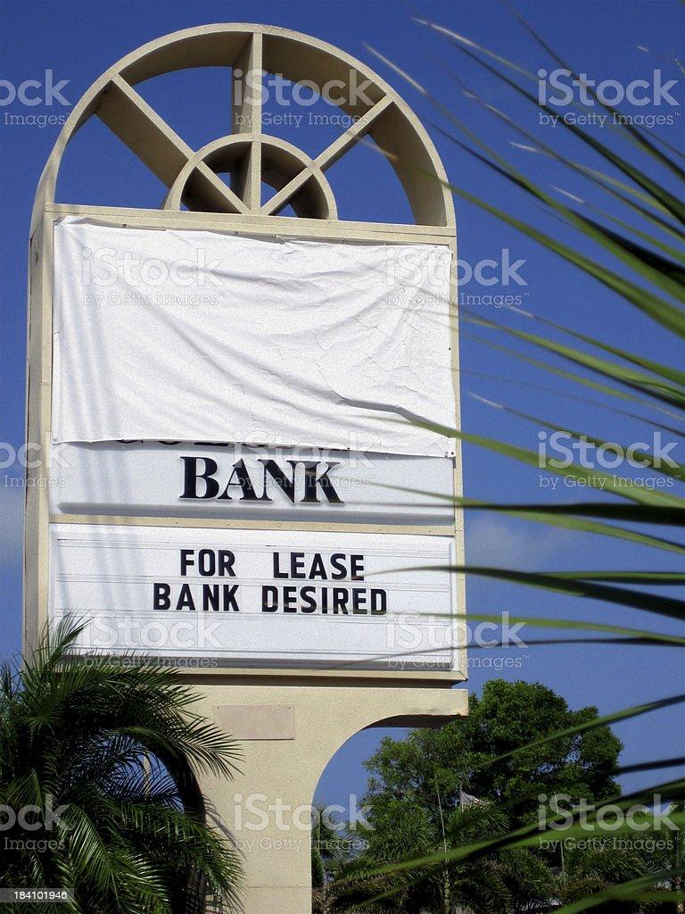 Florida Bank Failures - Recession Concept Photo stock photo