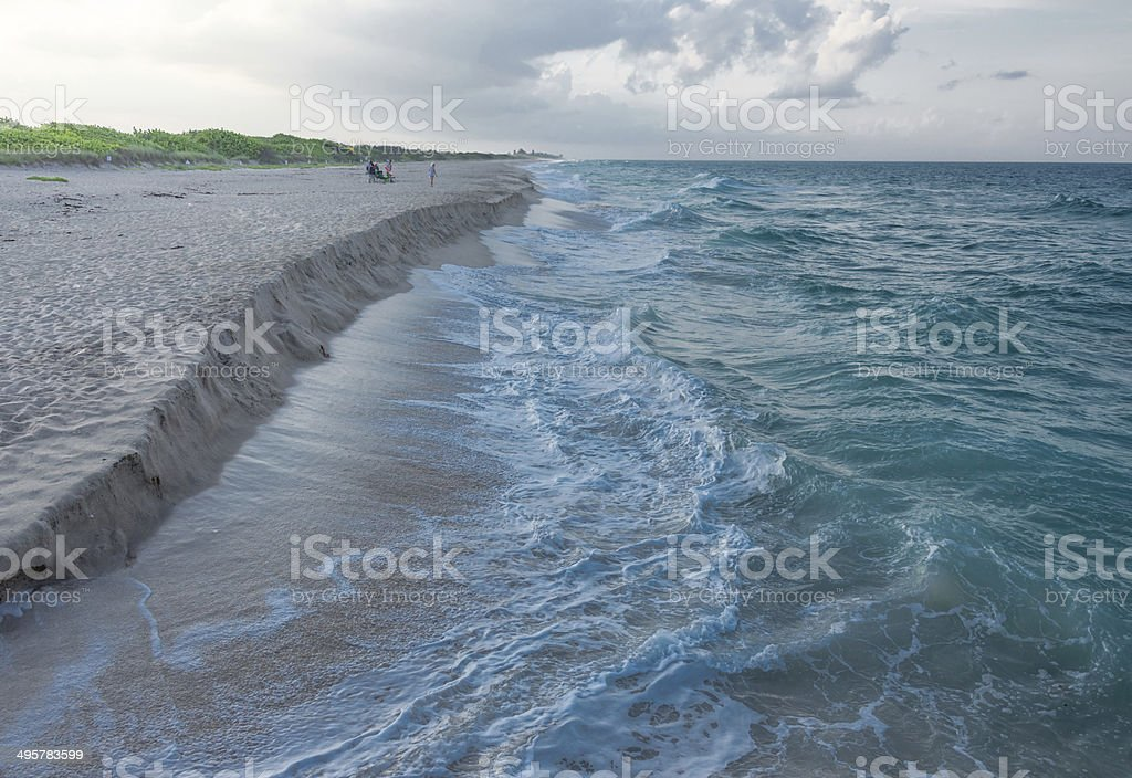 Florida Beach Erosion stock photo