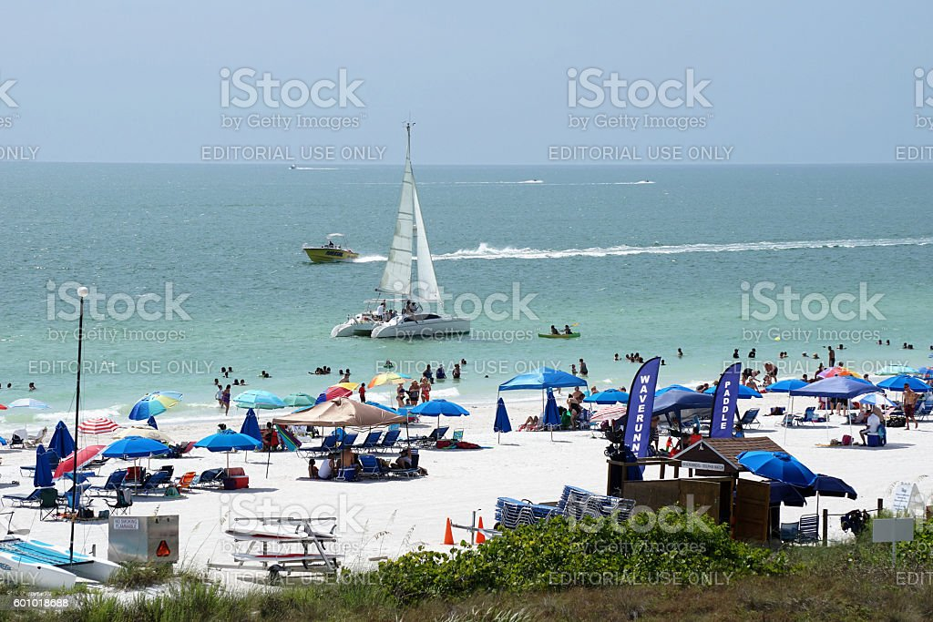 Florida beach scene on Gulf coast stock photo
