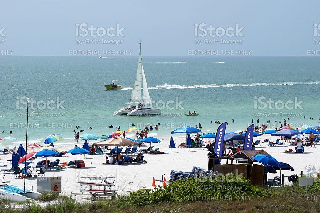 Florida beach scene on Gulf coast stock photo
