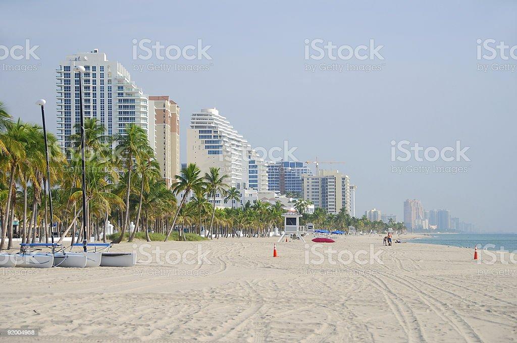 Florida beachfront properties royalty-free stock photo