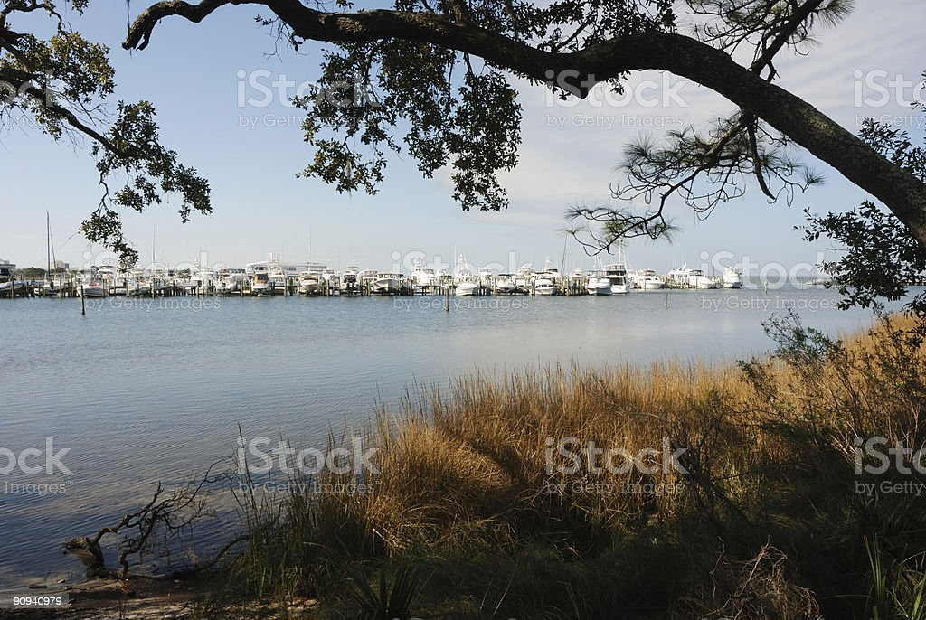 Florida Coastal Marina stock photo