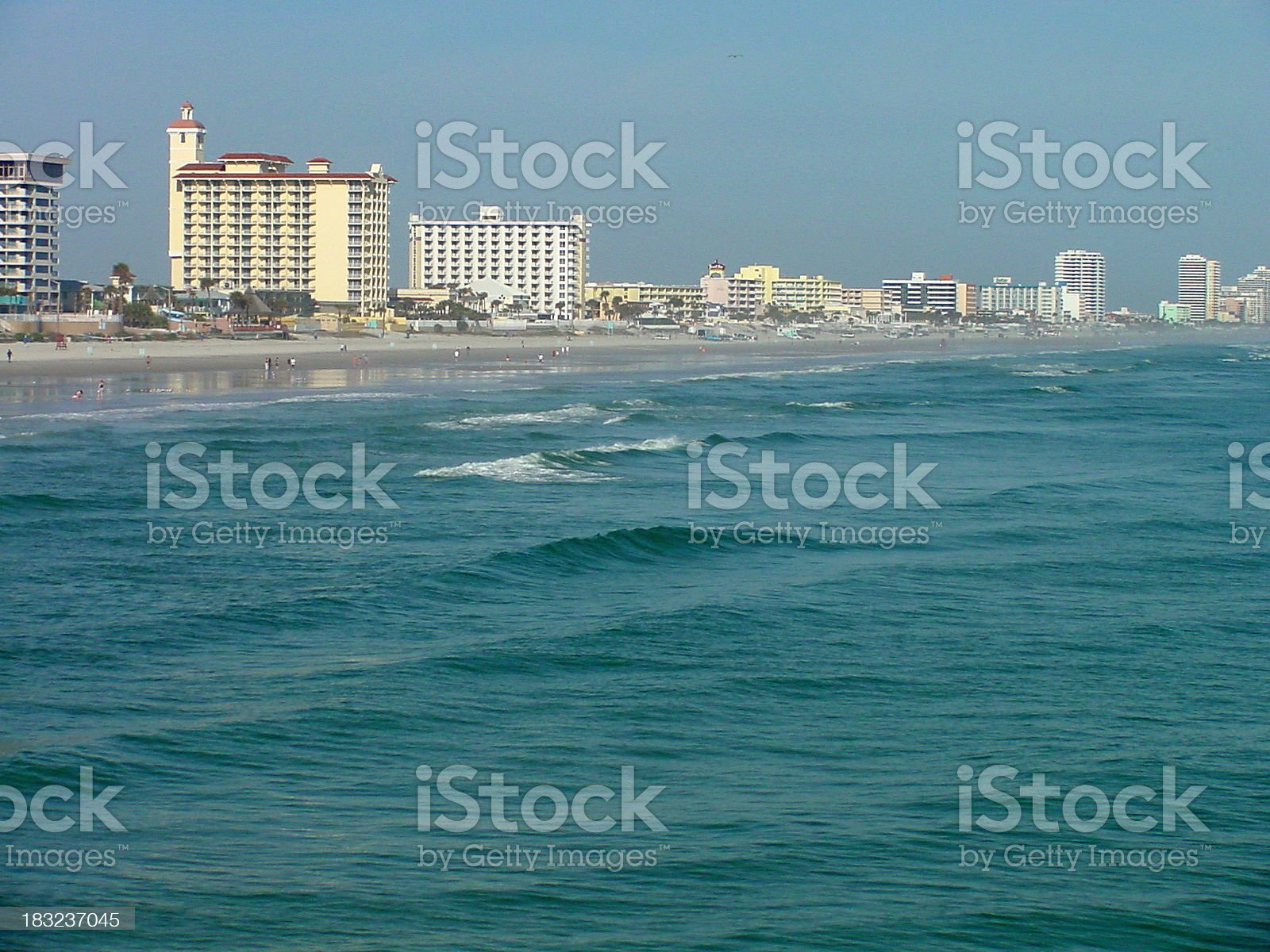 Florida Coastline - Daytona Beach royalty-free stock photo