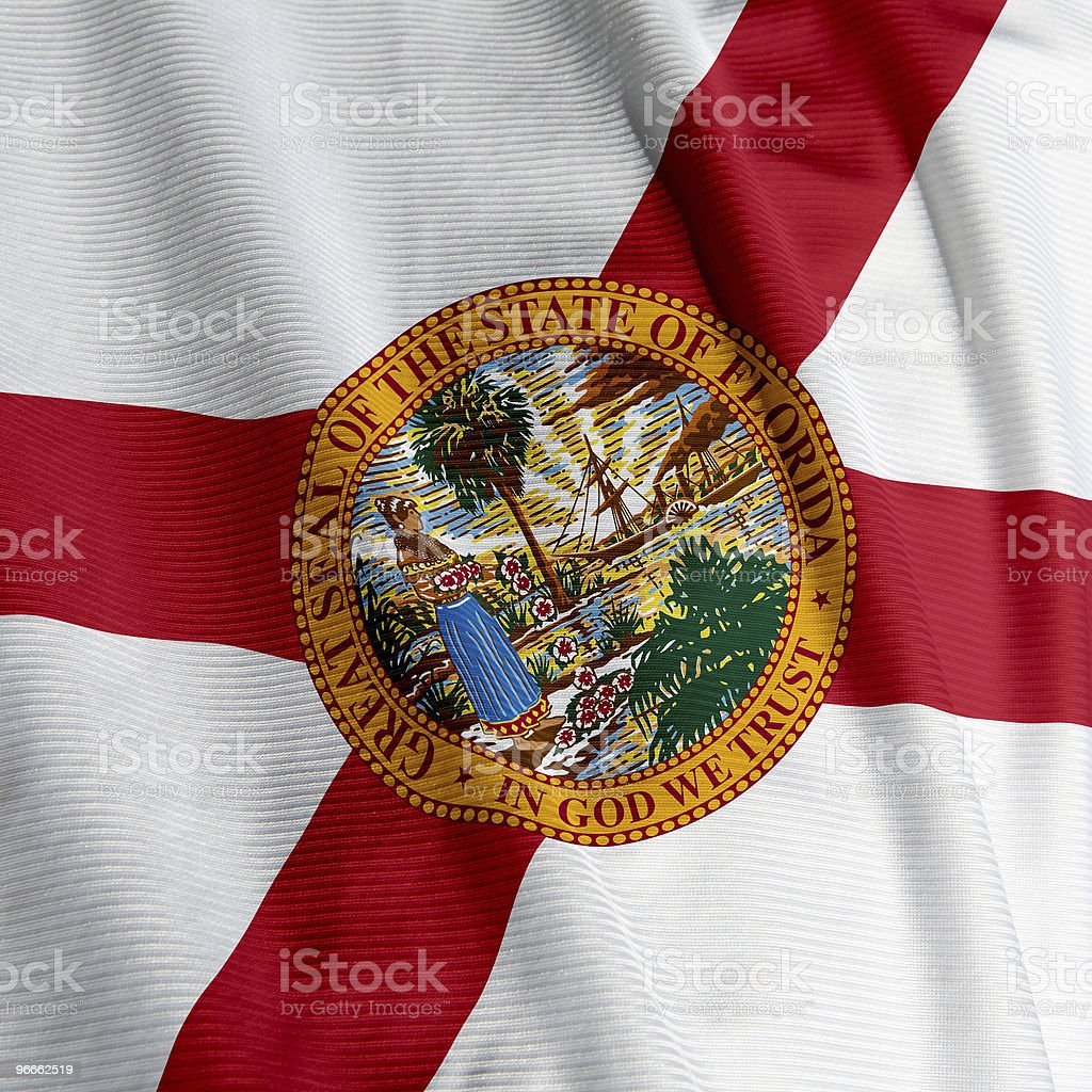 Florida Flag Closeup royalty-free stock photo