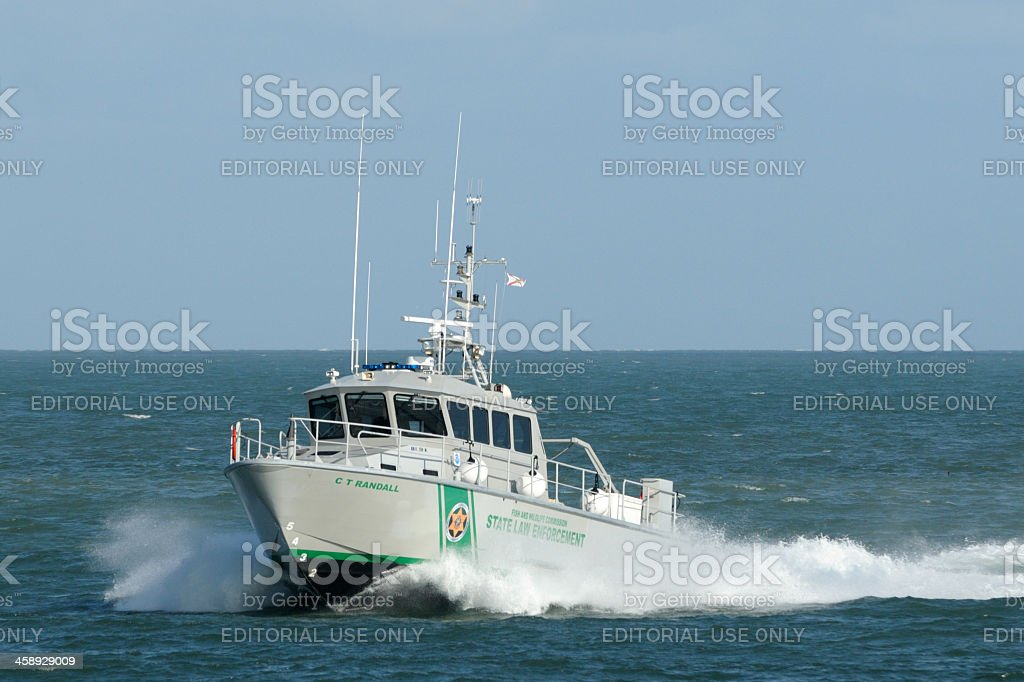 Florida FWC patrol boat stock photo