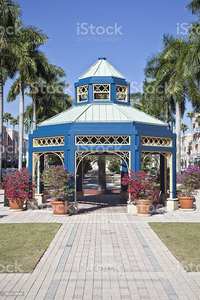 Florida Gazebo stock photo