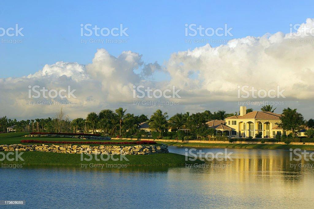 Florida Golf Community stock photo