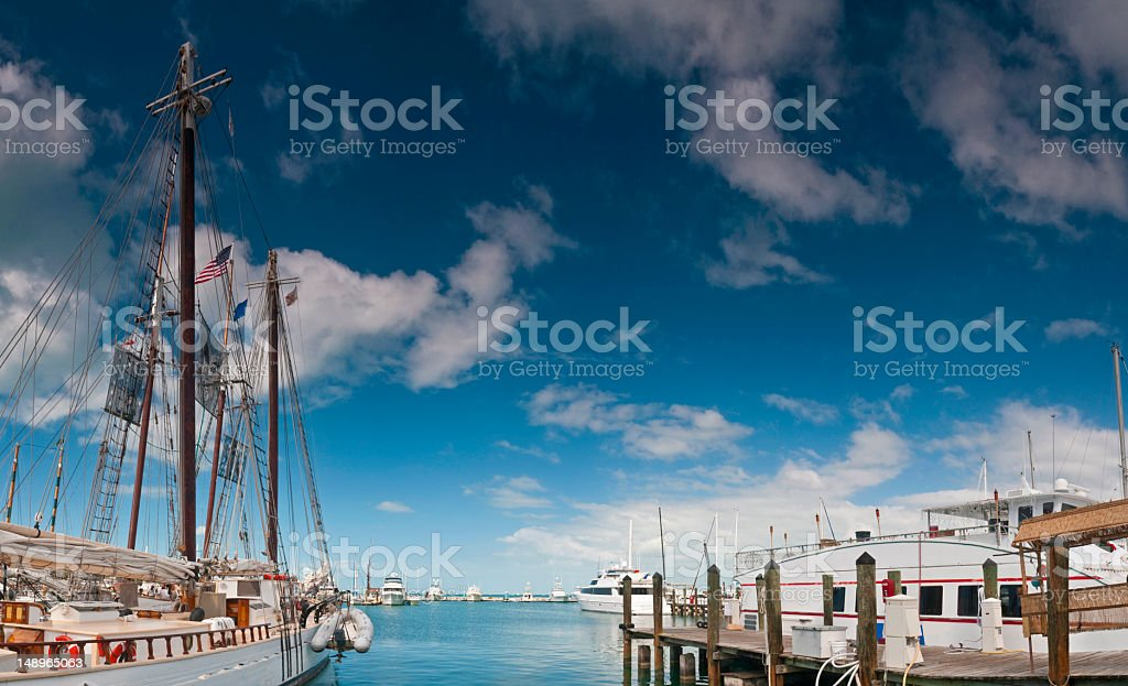 Florida harbor blue skies royalty-free stock photo