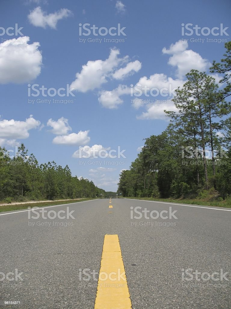 Florida Highway Road royalty-free stock photo