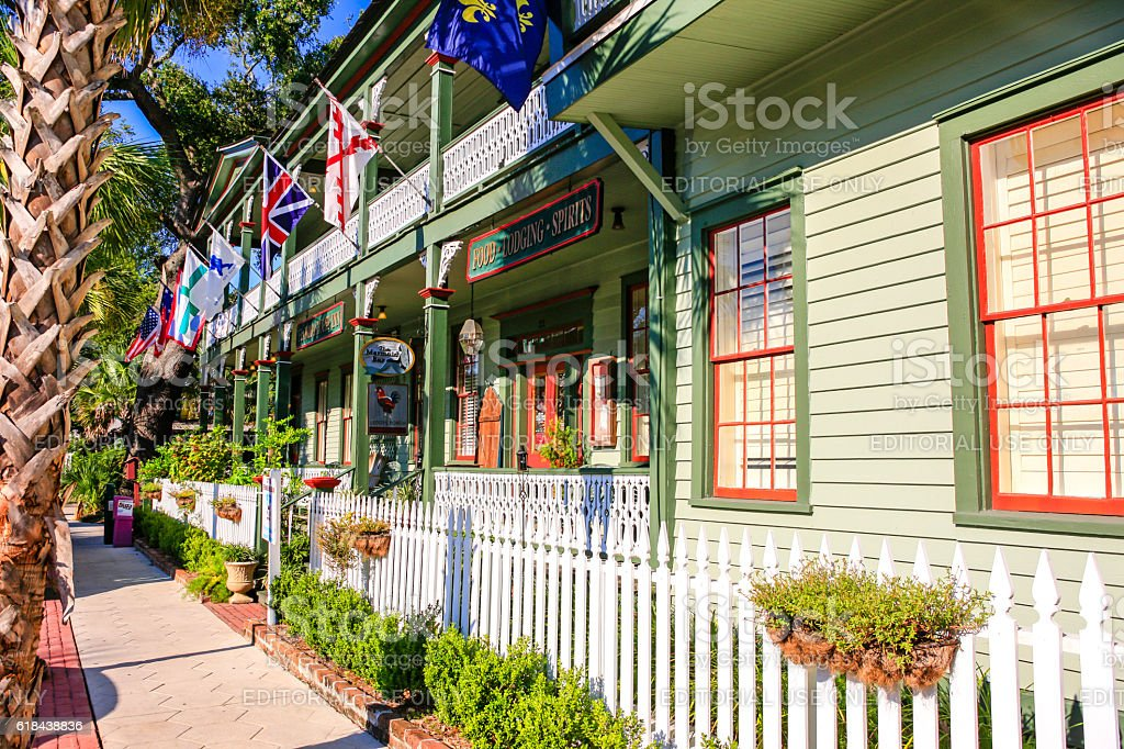 Florida House Inn on 3rd Street, Fernandina Beach City, Florida stock photo