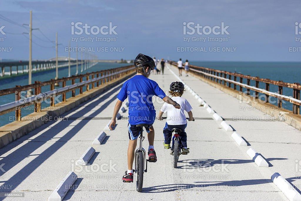 Florida Keys 7 Mile Bridge stock photo
