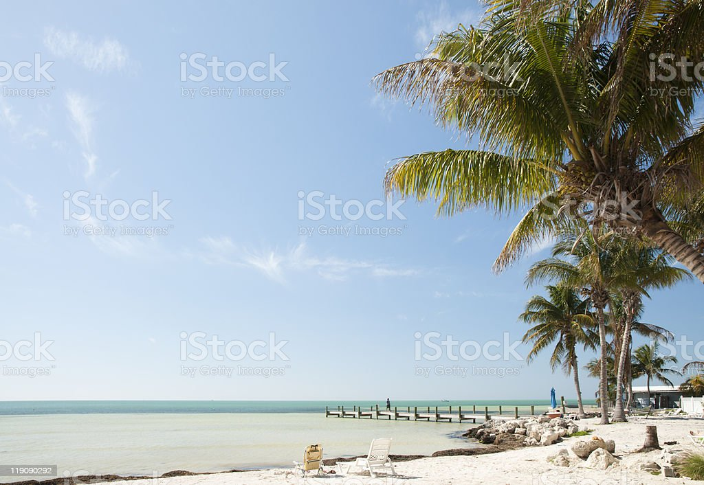 Florida keys beach landscape stock photo