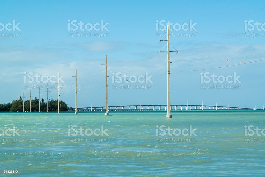 Florida Keys bridge over Channel 2 and 5, USA stock photo