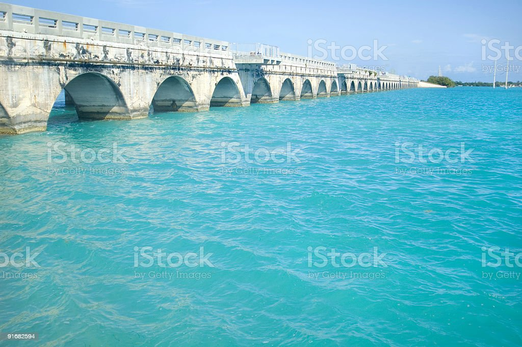 Florida Keys Bridge stock photo