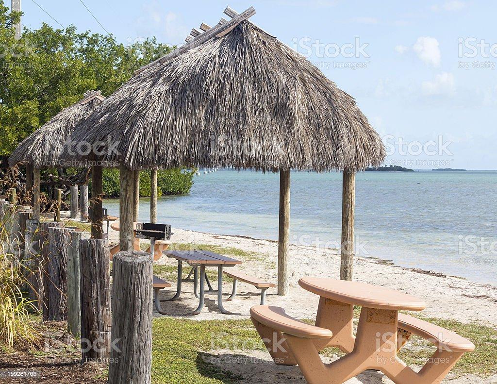Florida Keys seven mile bridge rest area royalty-free stock photo
