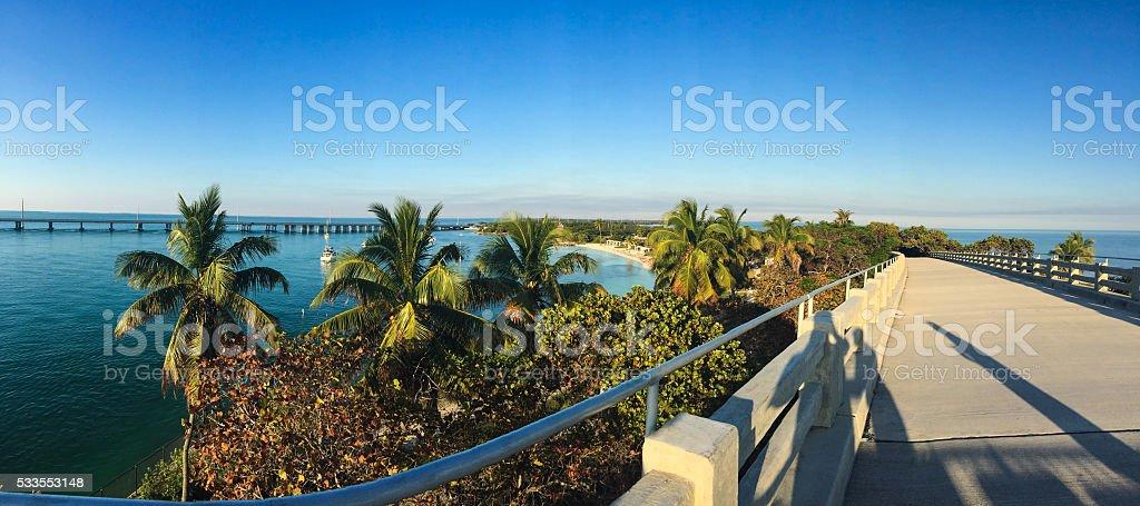 Florida Keys View At Sunset stock photo
