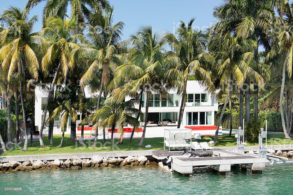 Florida mansion stock photo