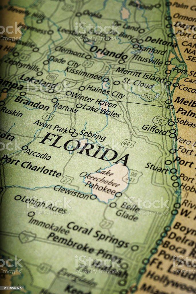Florida Map stock photo