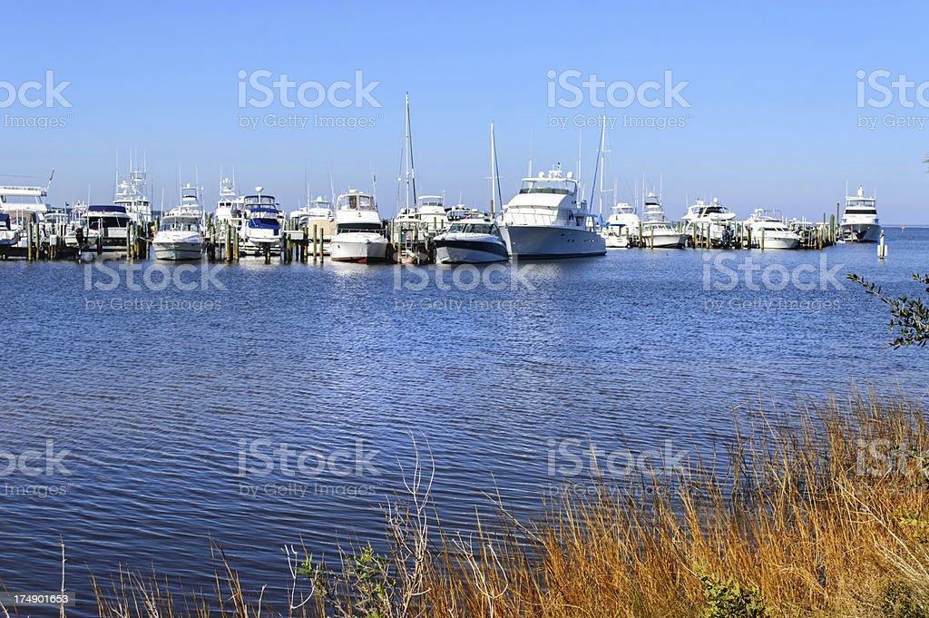 Florida Marina royalty-free stock photo