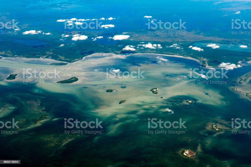 Florida Miami aerial view panorama landscape stock photo