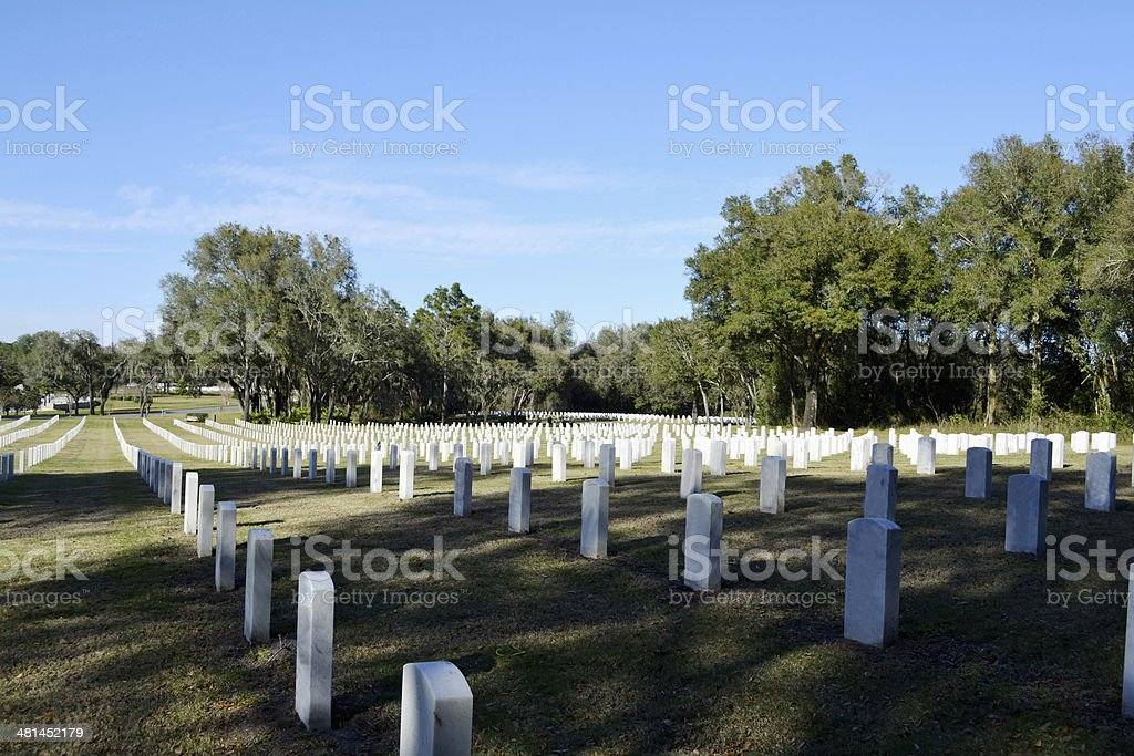 Florida National Cemetery stock photo