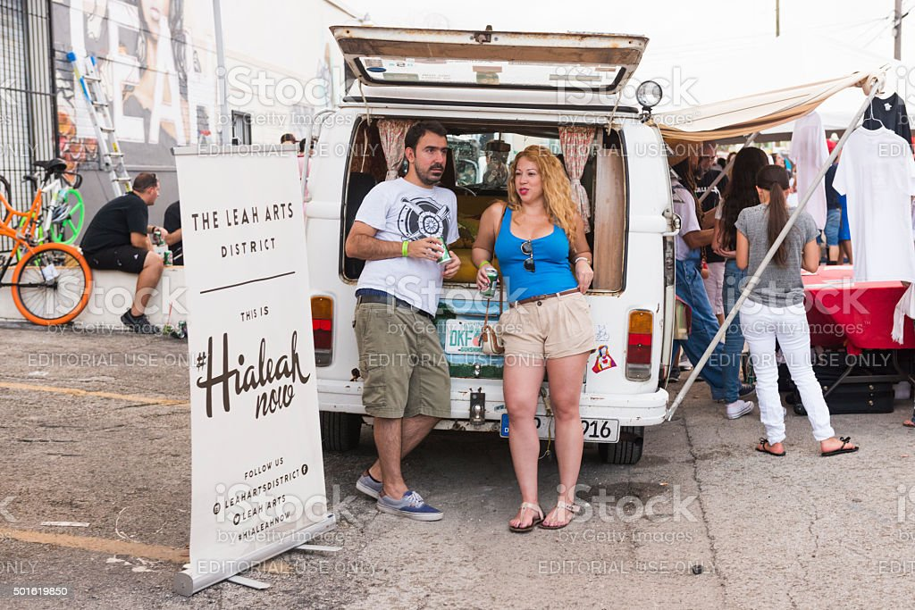 Florida People at the Hialeah Now Community Arts Festival stock photo