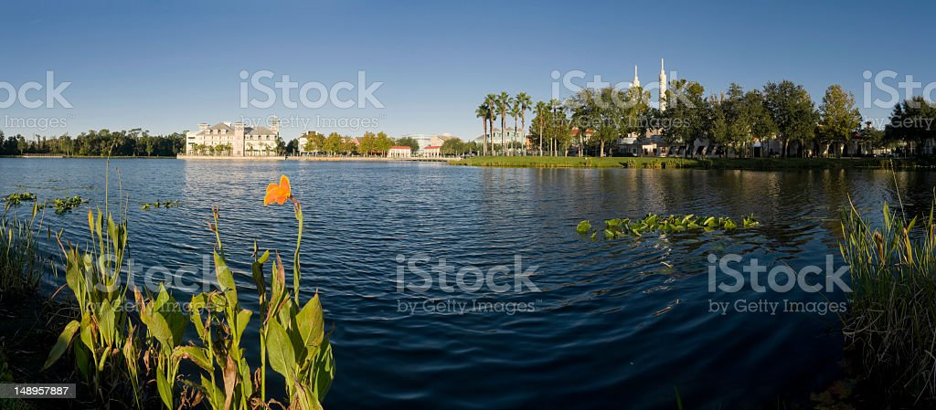 Florida picturesque lakeside town royalty-free stock photo