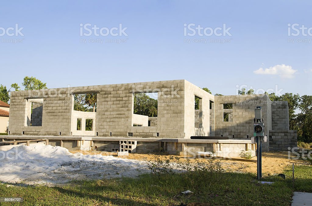 Florida Residential Construction Site royalty-free stock photo