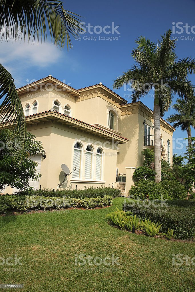 florida residential home royalty-free stock photo