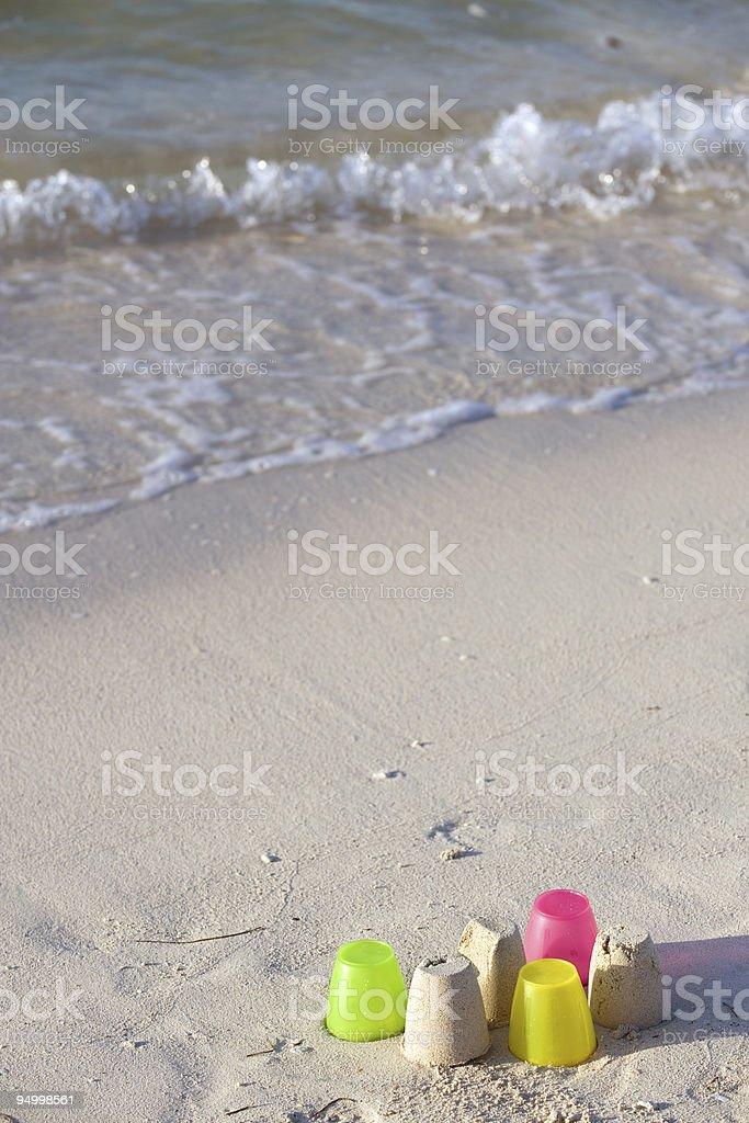 Florida sand beach stock photo