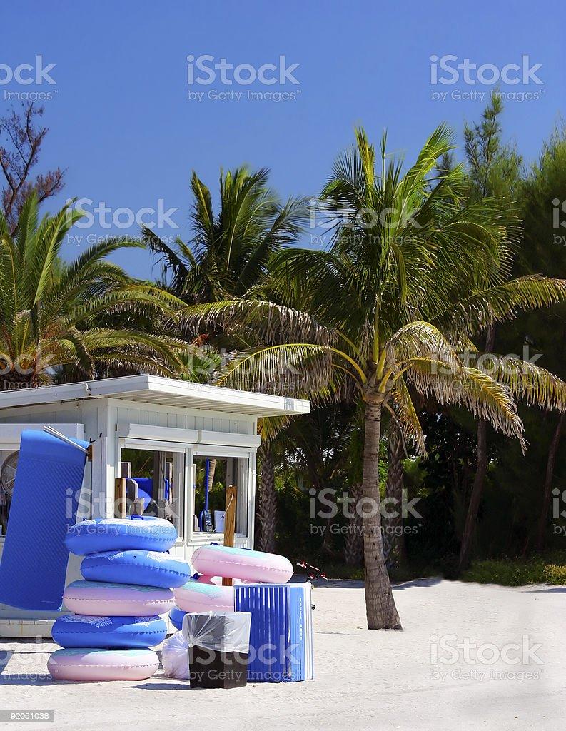 stand en bord de mer de Floride photo libre de droits