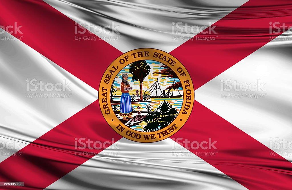 Florida State Flag stock photo