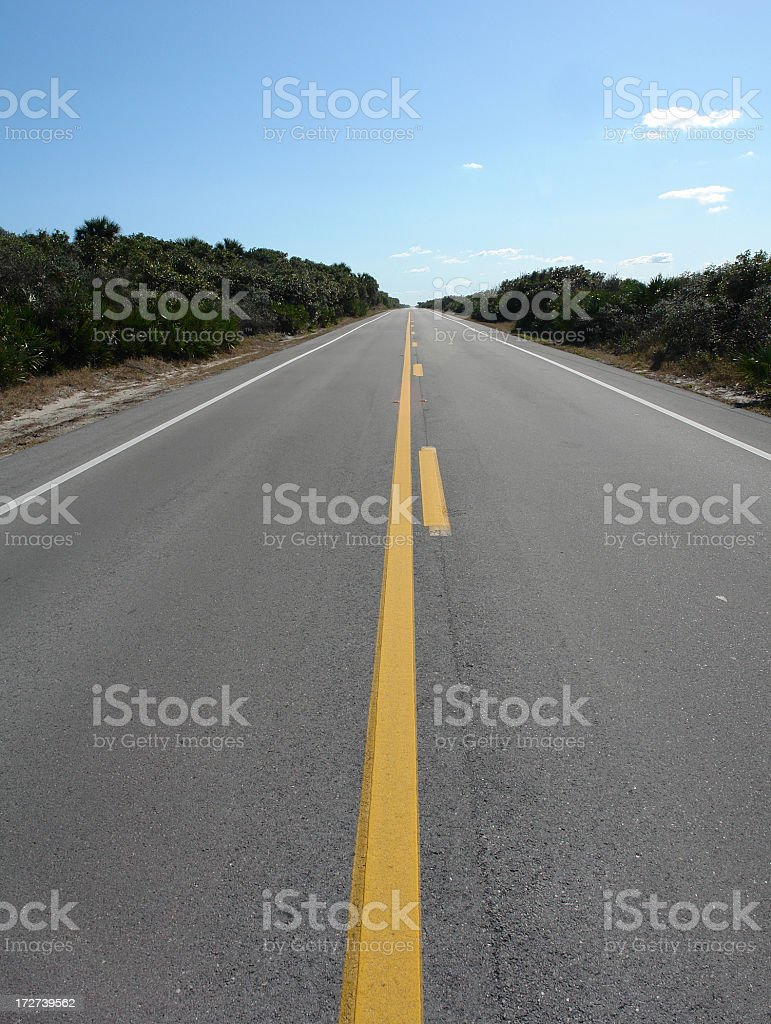 Florida State Road A1A Ponte Vedra Beach royalty-free stock photo