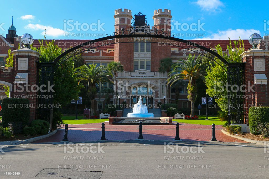Florida State University Main Entrance. stock photo