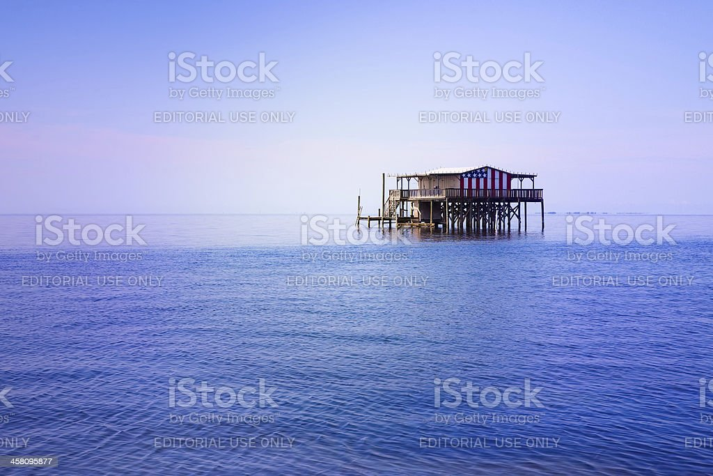 Florida Stilt Home stock photo