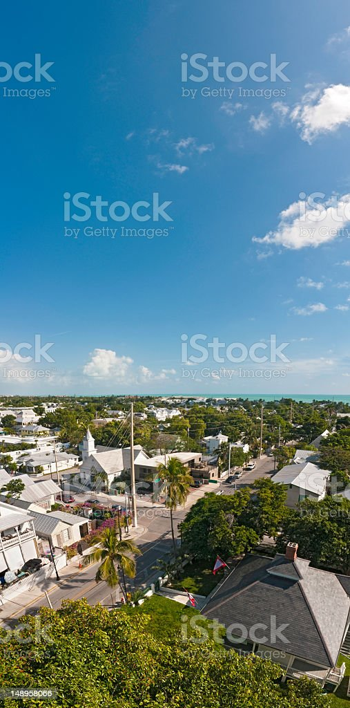 Florida townscape vertical sky high royalty-free stock photo