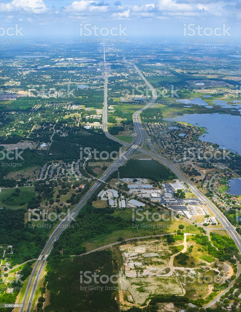 Florida Turnpike - Aerial View stock photo