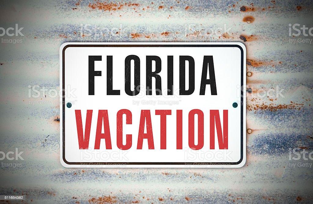 Florida Vacation Ahead stock photo