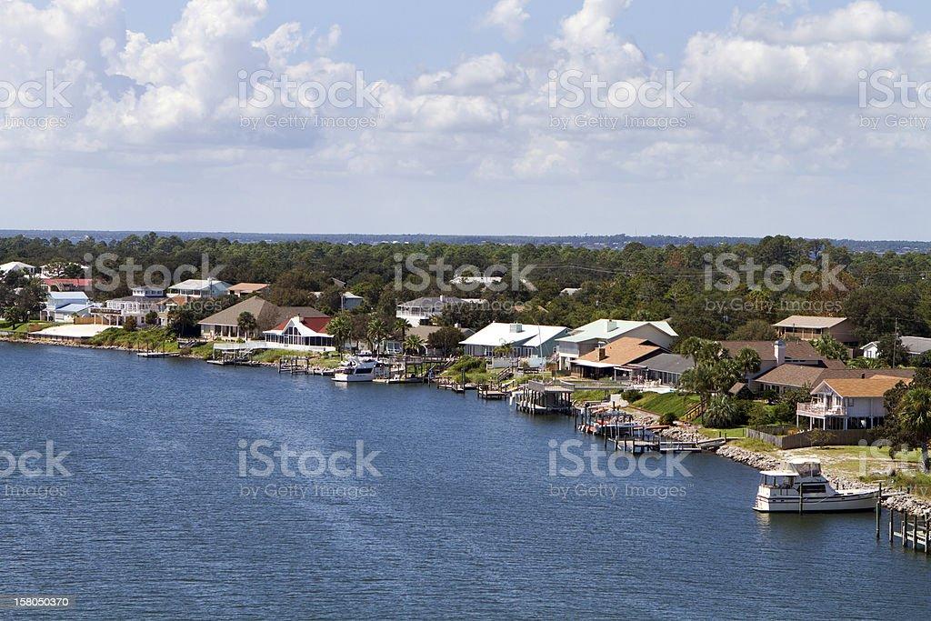 Florida Waterfront Homes stock photo