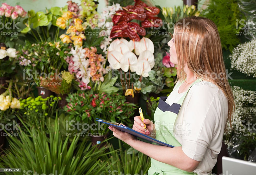Florist at work. royalty-free stock photo