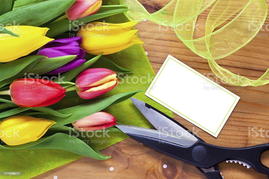 Florist flower bouquet still life stock photo