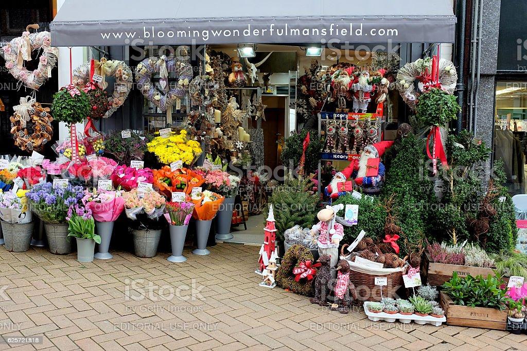 Florist in November. stock photo