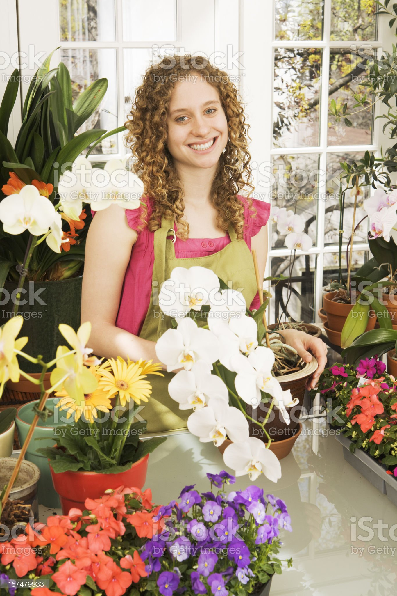 Florist, Small Business Owner of Flower Shop, Garden Center Store royalty-free stock photo
