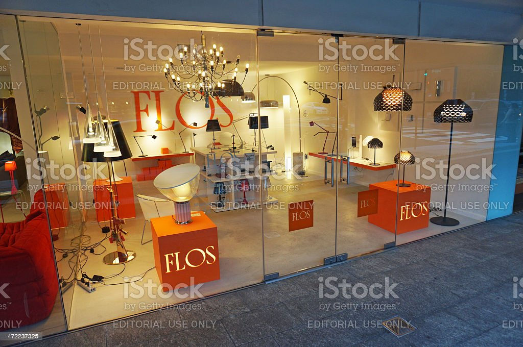 Flos Furniture Store stock photo
